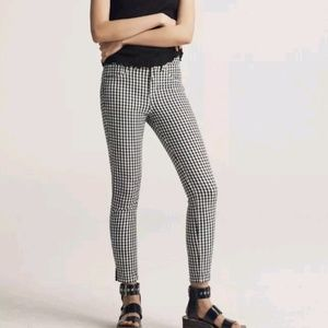 Rag & bone gingham high rise skinny Capri